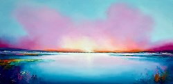 Pastel Morning by Anna Gammans - Original Painting on Stretched Canvas sized 39x20 inches. Available from Whitewall Galleries